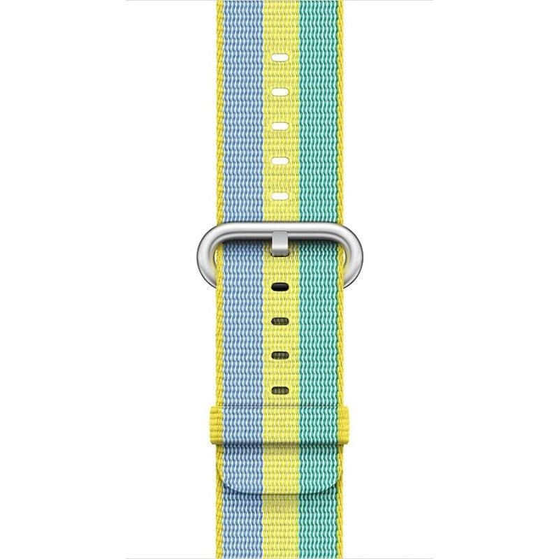 Bracelete em tecido de nylon (38 mm) - Dourado/vermelho fivela dourada (Vitrine)