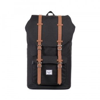 Mochila Herschel Little America (25L) - Black/Tan Synthetic Leather