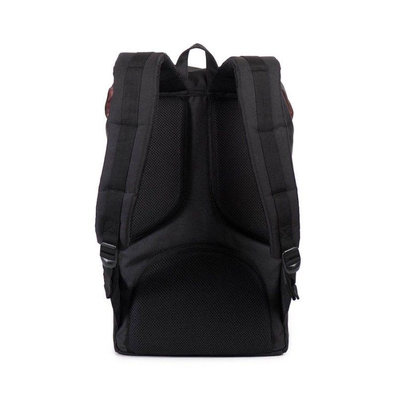 Mochila Herschel Little America (25L) - Black/Tan Synthetic Leather