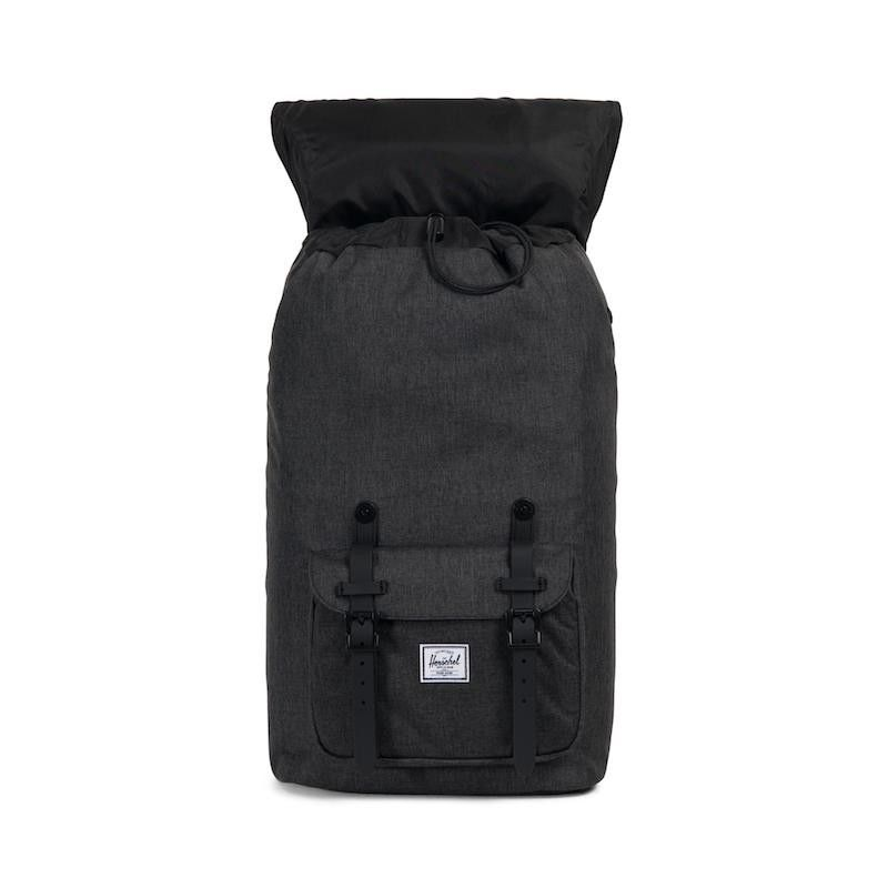 Mochila Herschel Little America (25L) - Black Crosshatch