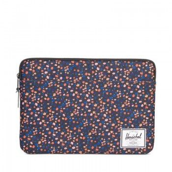 Bolsa Sleeve Herschel Anchor 13´ USB-C - Black/Mini Floral