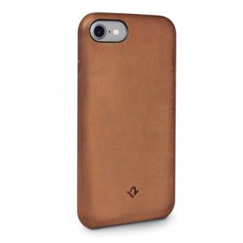 Capa em pele Twelve South Relaxed para iPhone 8 / 7 - Cognac
