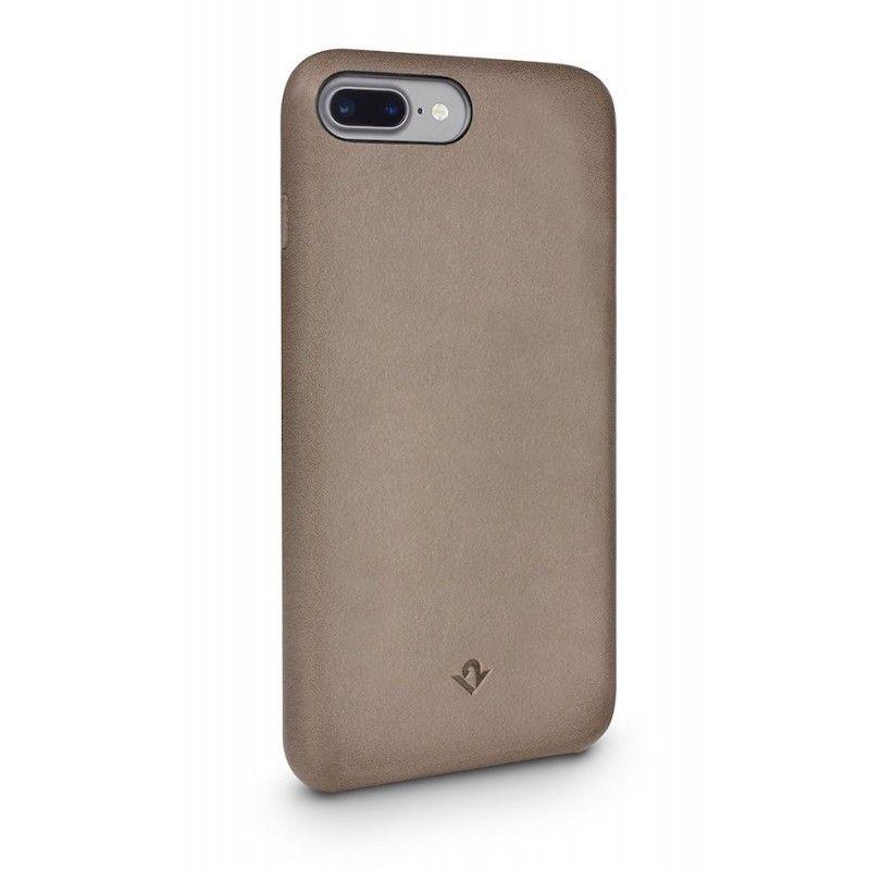 Capa em pele Twelve South Relaxed para iPhone 8 / 7 Plus - Castanho-toupeira