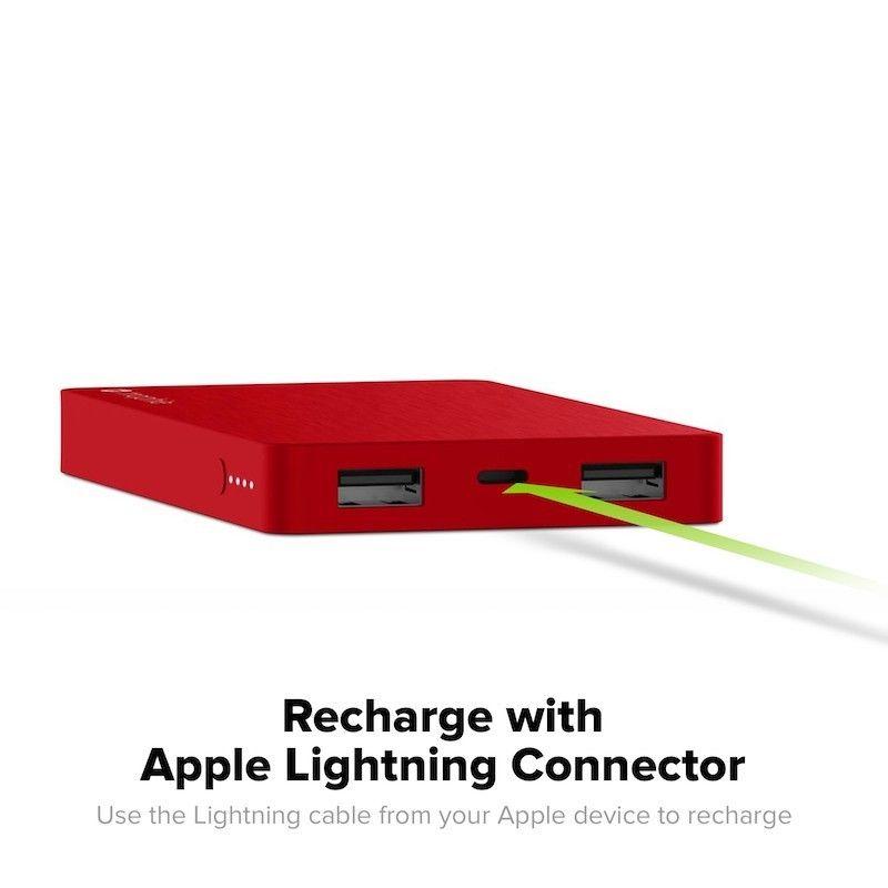 Powerbank Mophie com 2 saidas e ligação Lightning - 5.000mAh Preto