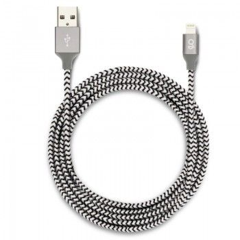 Cabo Lightning / USB 1,8 metros GMS essentials - Preto/Branco