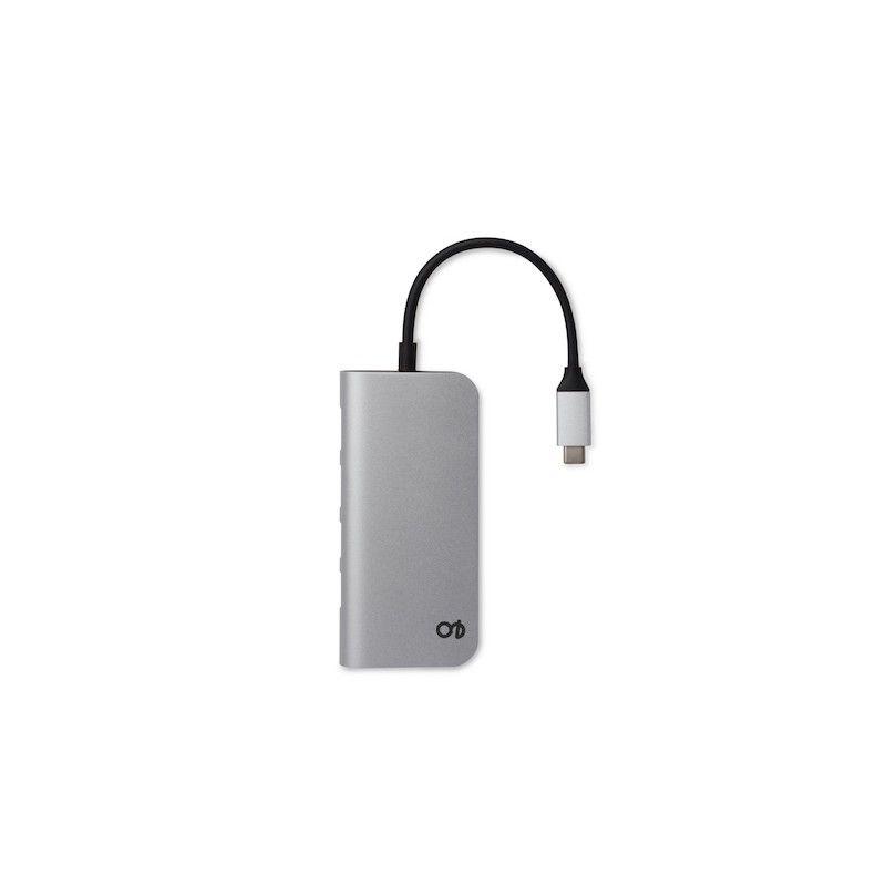 Hub Type-C Multi-port 4k HDMI & Ethernet GMS essentials - Prateado