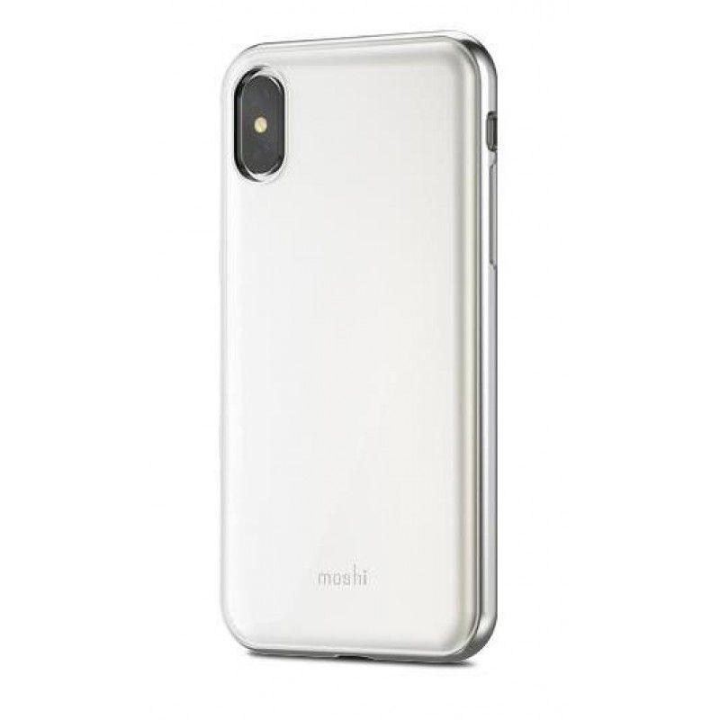 Capa para iPhone X/XS Moshi iGlaze - Branco
