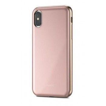 Capa para iPhone X/XS Moshi iGlaze - Rosa
