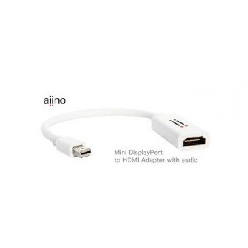 Adaptador Mini DisplayPort para HDMI 4K com audio - Branco