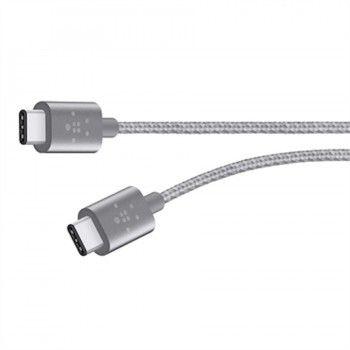 Cabo Belkin metálico USB-C para USB-C - Cinza