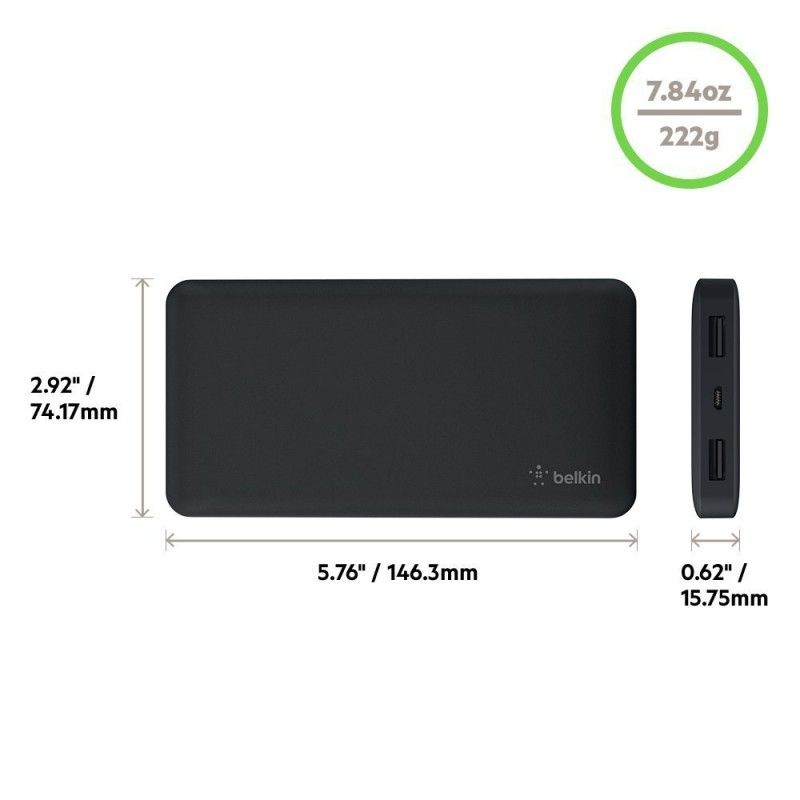 Power Bank 10000mAh - Preto
