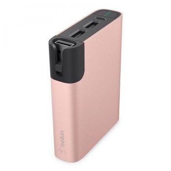 Power Bank 6600mAh + Lightning - Rosa dourado