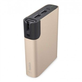 Power Bank 6600mAh + Lightning - Dourado