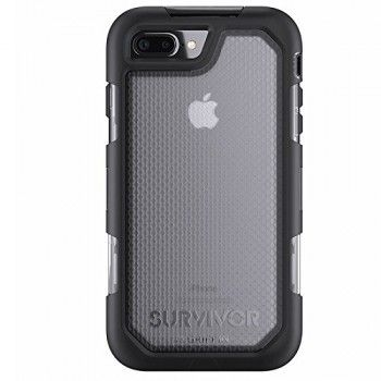 Capa Griffin Summit para iPhone 7 Plus - Preto/Transparente