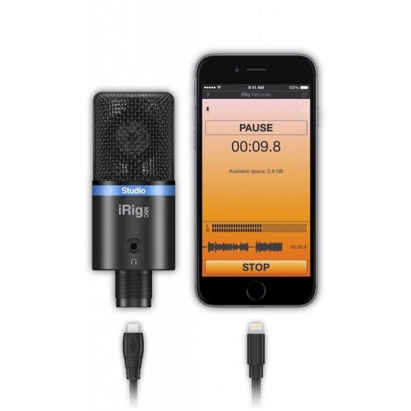 Microfone Digital ultra-portátil de diafragma grande, IK Mul