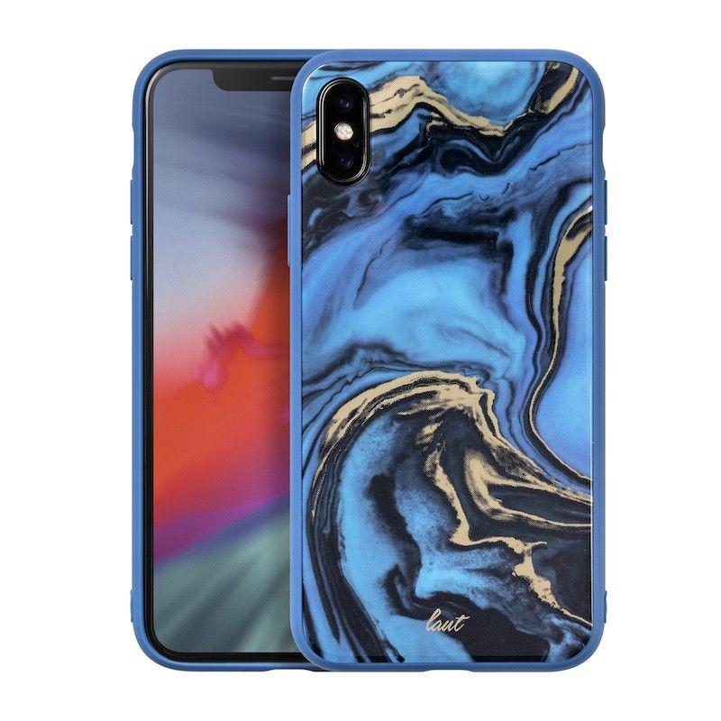 Capa Laut Mineral Glass para iPhone XS / X - Azul