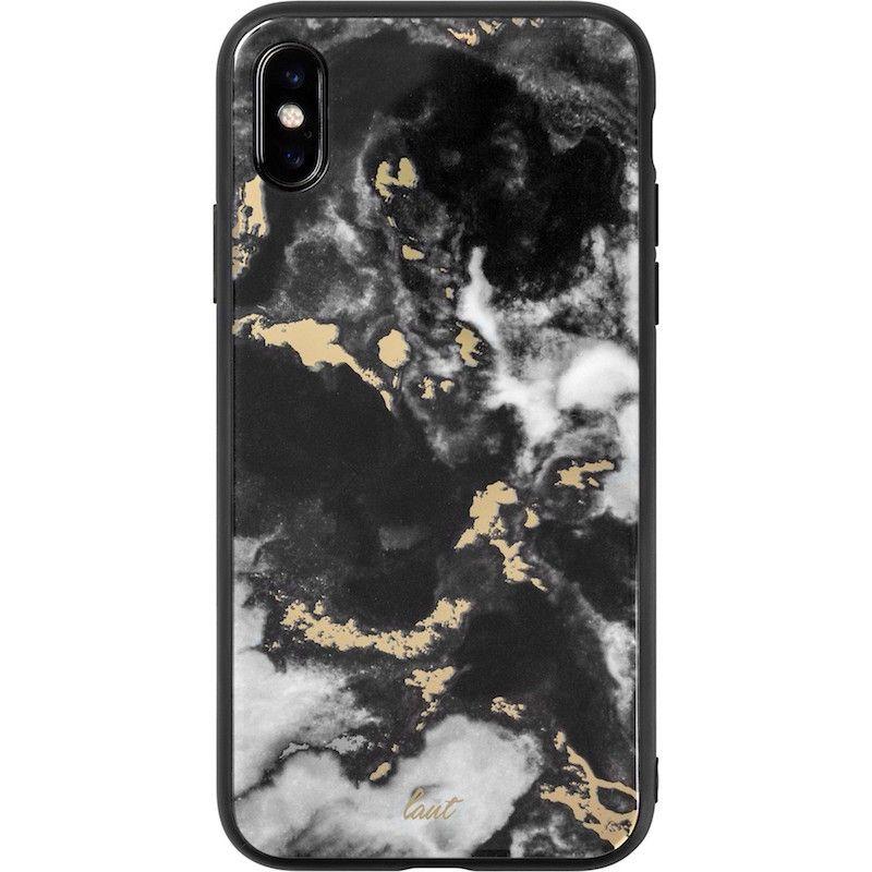 Capa Laut Mineral Glass para iPhone XS / X - Preto
