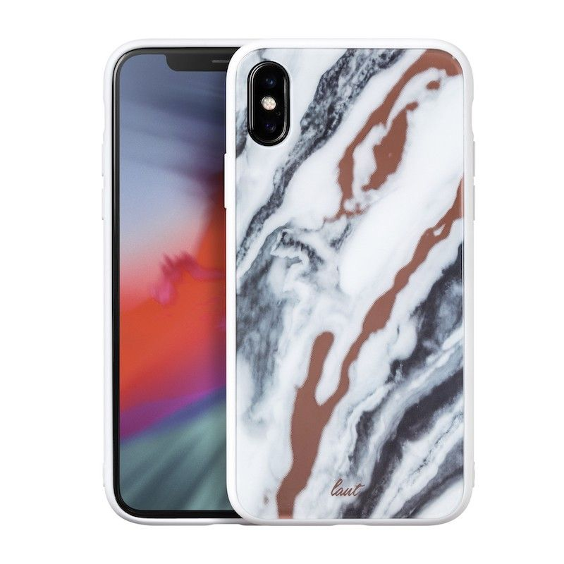 Capa Laut Mineral Glass para iPhone XS / X - Branco