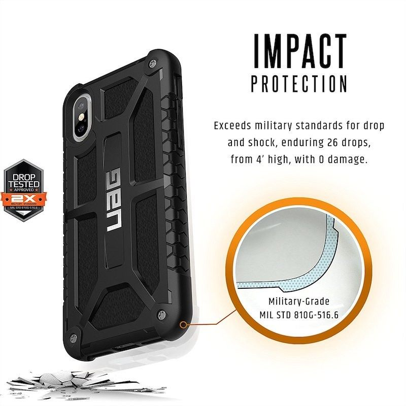 Capa para iPhone X/XS UAG Monarch - Preto