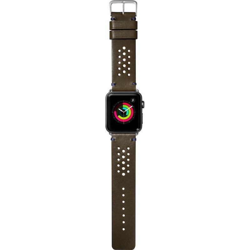 Bracelete para Apple Watch Laut Heritage, 44/42mm - Verde Oliva