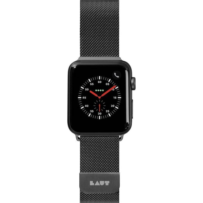 Bracelete para Apple Watch Laut Steel Loop, 44/42mm - Preto