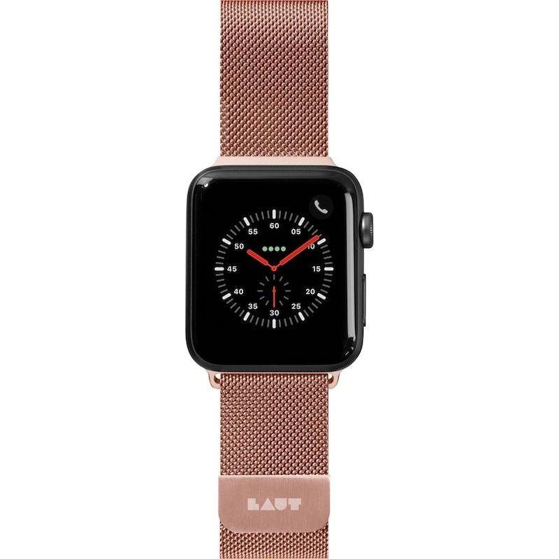 Bracelete para Apple Watch Laut Steel Loop, 40/38mm - Rosa Dourado