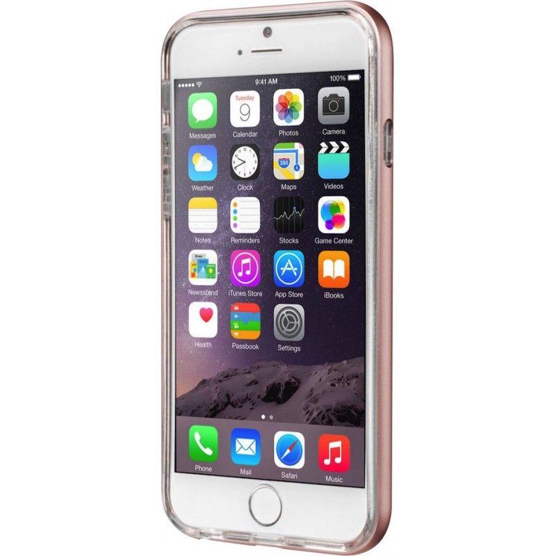Capa ExoFrame de aluminio Laut iPhone 6/6s - Rosa Dourado