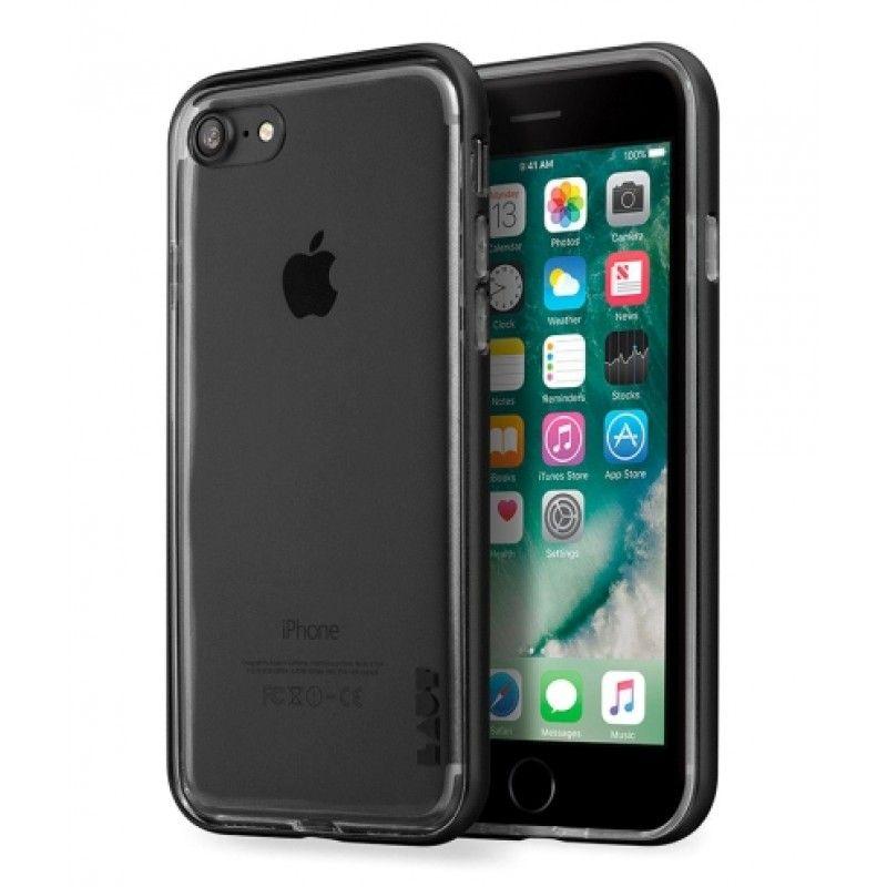 Capa ExoFrame de aluminio Laut iPhone 8 / 7 - Jet Black