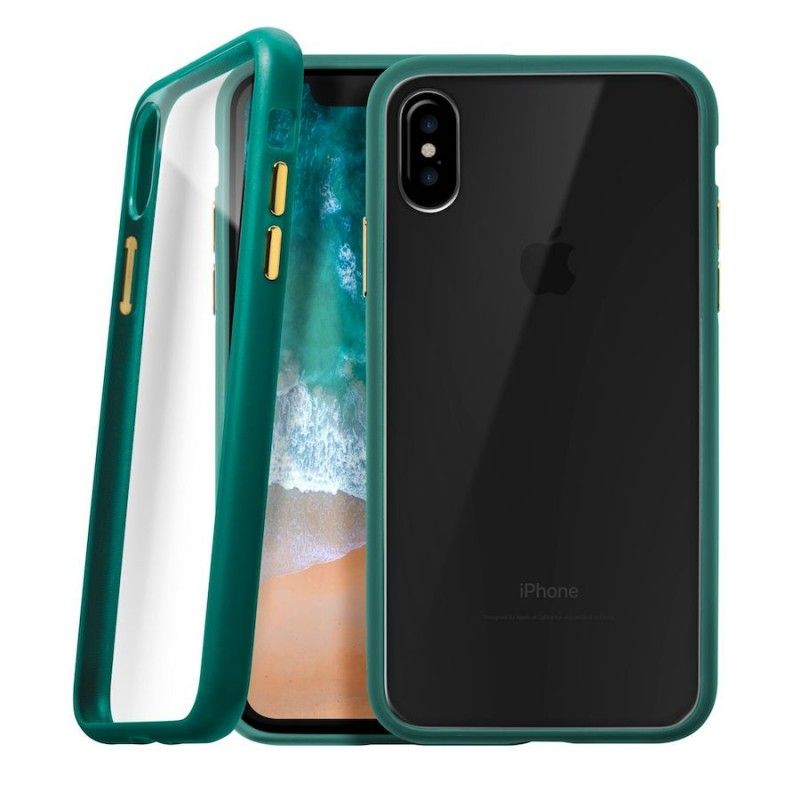 Capa protetora para iPhone X/XS - Verde esmeralda