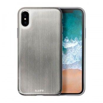 Capa para iPhone X/XS Laut Huex Metallics - Prateado