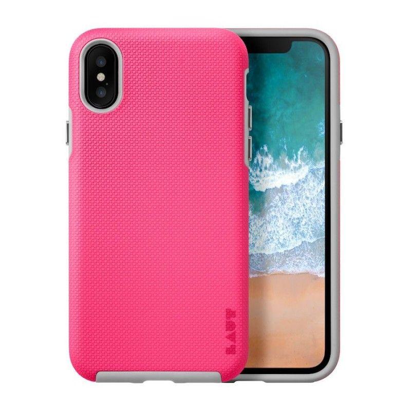 Capa muito resistente para iPhone X/XS Laut Shield - Rosa