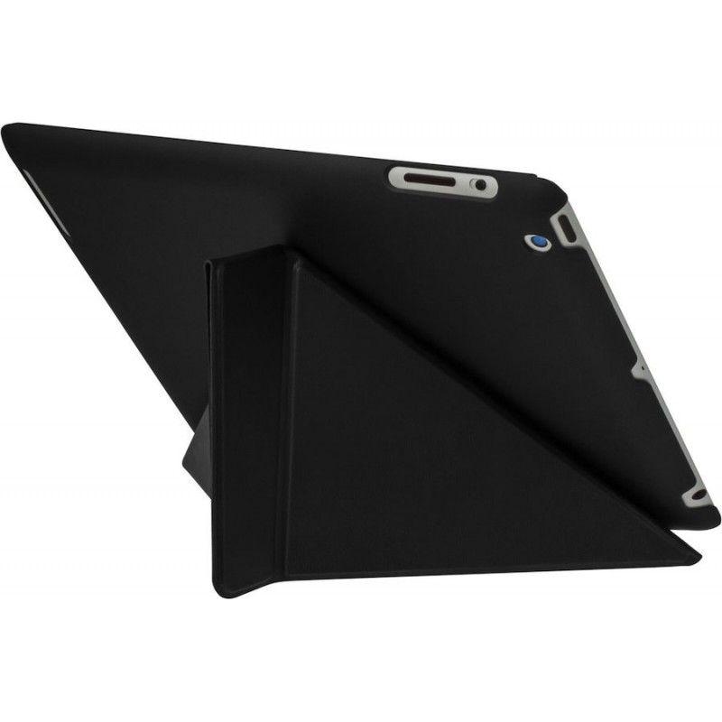 Capa trifolio para iPad 2/3/4 - Preta