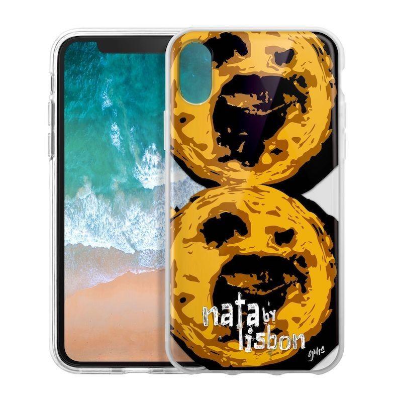 Capa iPhone X/XS Pastel de Nata Lisboa, Saudade Series 2