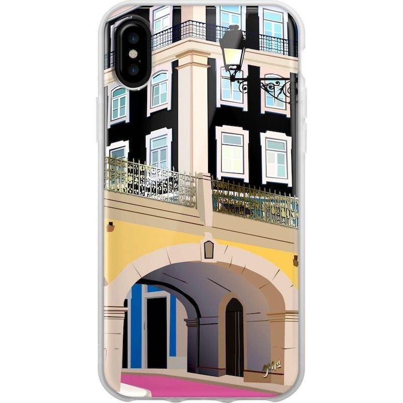 Capa iPhone X/XS Rua Rosa Cais do Sodré Lisboa, Saudade Series 2
