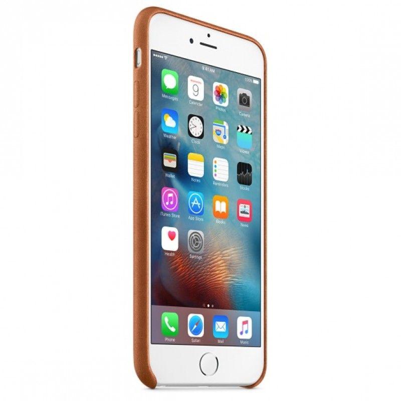 Capa em pele para iPhone 6/6s Plus - Castanho sela