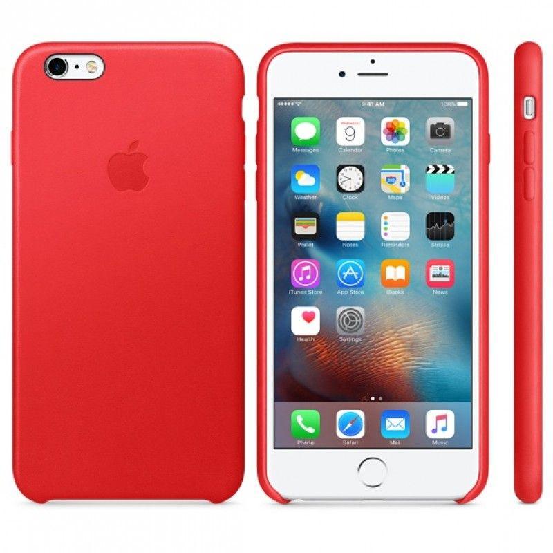 Capa em pele para iPhone 6/6s Plus - (PRODUCT) RED