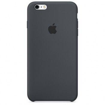 Capa em silicone para iPhone 6/6s Plus - Cinzento carvão