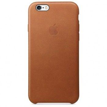 Capa em pele para iPhone 6/6s - Castanho sela
