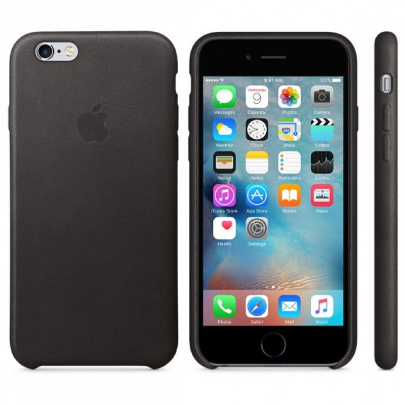 Capa em pele para iPhone 6/6s - Preto