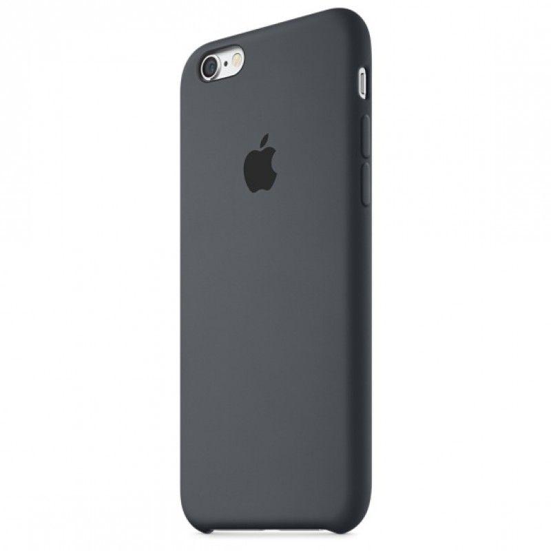 Capa em silicone para iPhone 6/6s - Cinzento carvão