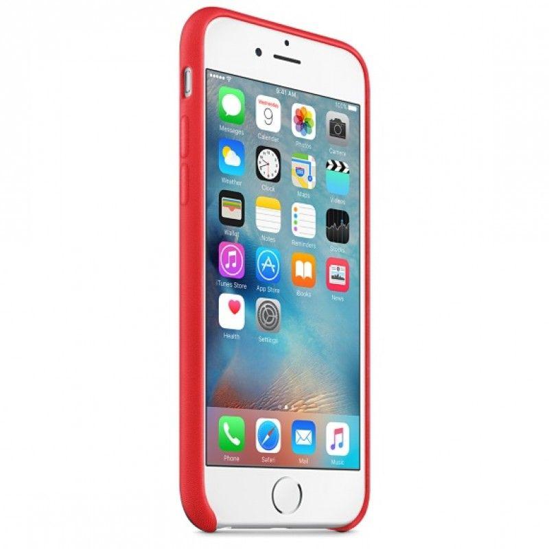 Capa em pele para iPhone 6/6s - (PRODUCT)RED