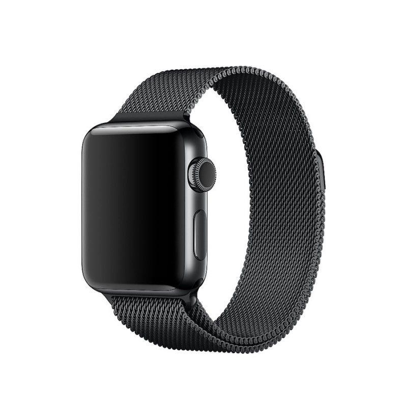 Bracelete para Apple Watch Milanesa em metal (38 mm) - Preto (Vitrine)