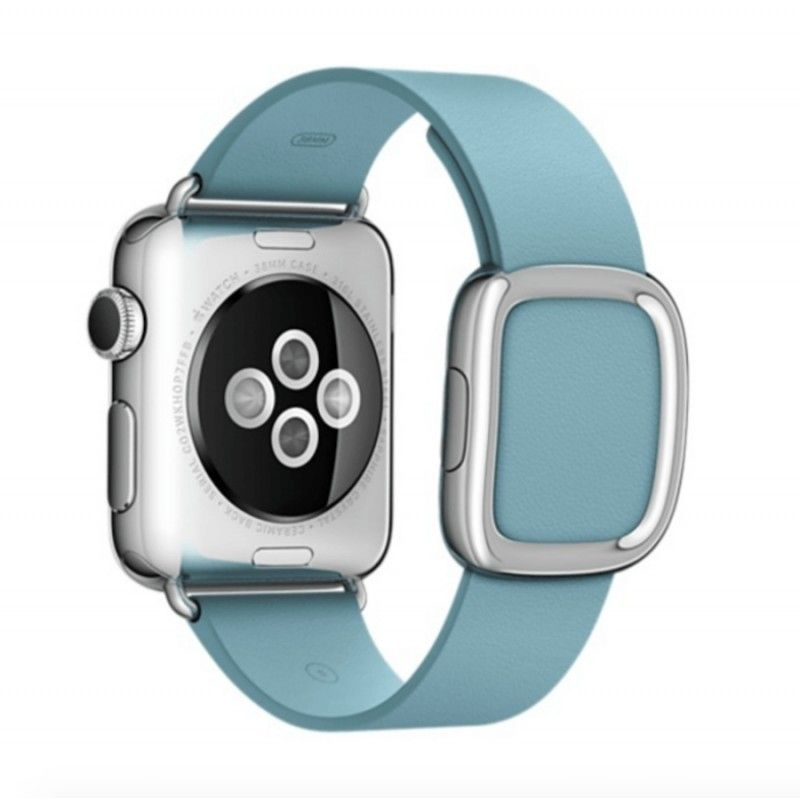 Bracelete Apple Watch pele fivela moderna (38 mm) médio - Azul (Vitrine)