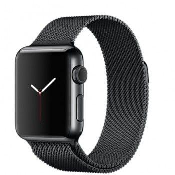 Apple Watch 38 mm, com caixa em aço inoxidável preto sideral