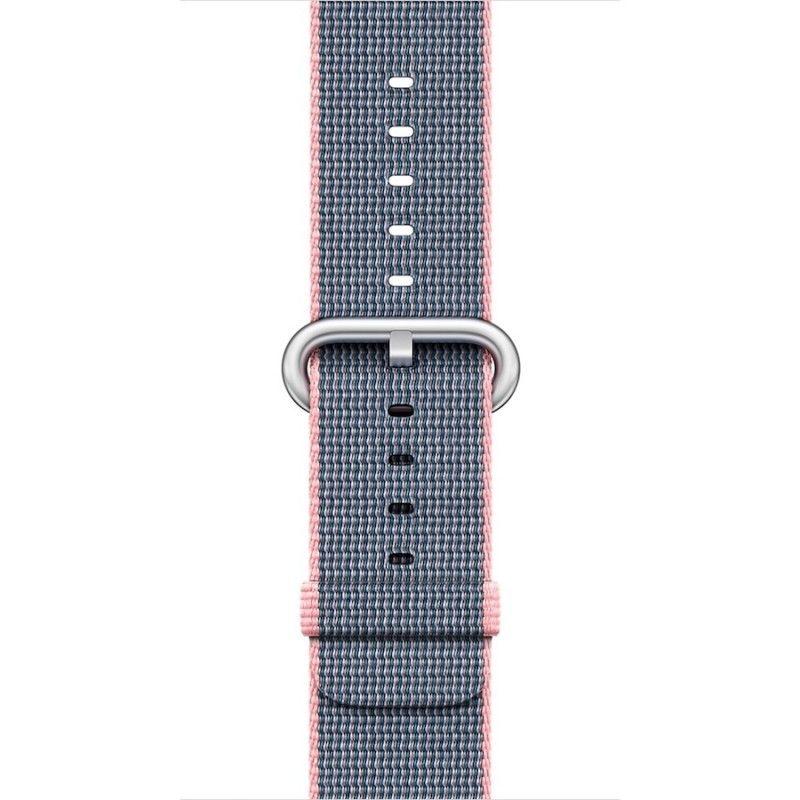 Bracelete em nylon (38 mm) - Rosa/Azul meia-noite (Vitrine)
