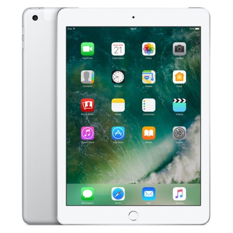 iPad Wi-Fi + Cell 128GB - Prateado
