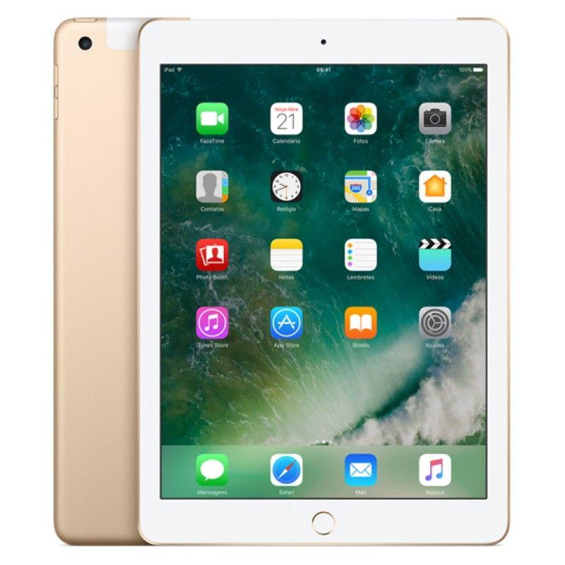 iPad Wi-Fi + Cell 128GB - Dourado