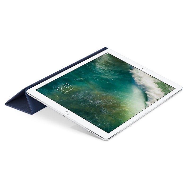 Capa Smart Cover em pele para iPad Pro de 12,9 polegadas - Azul meia-noite