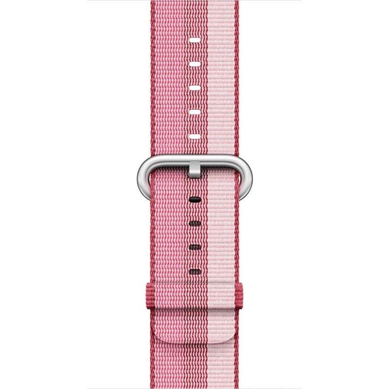 Bracelete em tecido de nylon (38 mm) - Encarnado-baga (Vitrine)