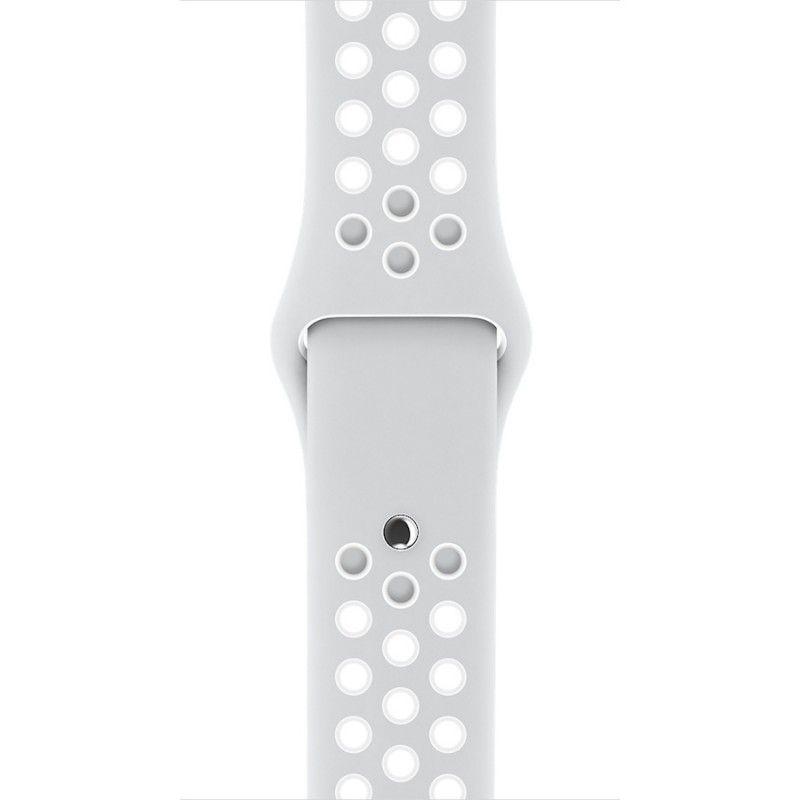 Bracelete desportiva Nike (38mm) - Pure Platinum/Branco Nike Sport Band (Vitrine)